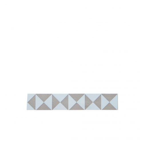Madam Stoltz / Designová samolepící páska Triangle taupe/blue