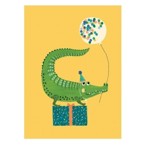 PETIT MONKEY / Pohľadnica Party Crocodile A6