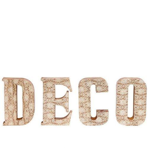 Hübsch / Drevený dekoratívny nápis Deco