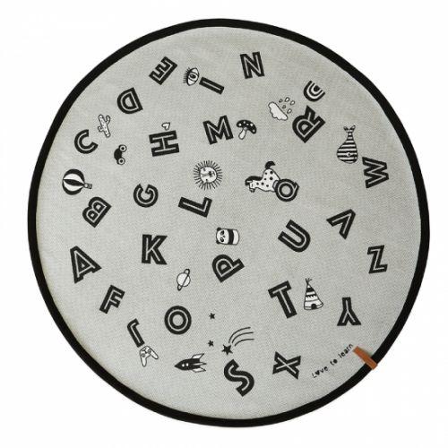 OYOY / Detský koberec The Alphabet Rug grey