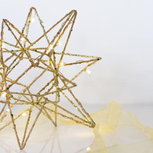 watt & VEKE / Závesná svietiaca hviezda Polar Large Gold