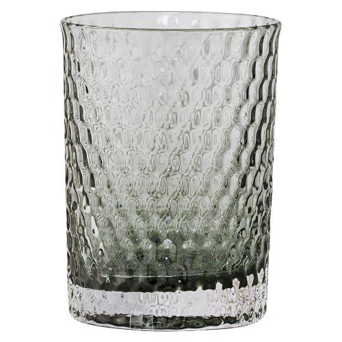 Bloomingville / Sklenený pohárik na kefky Grey/gold