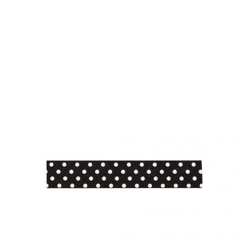 MADAM STOLTZ / Dizajnová samolepiaca páska Black white dots