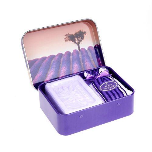 ESPRIT PROVENCE / Mydlo a sušená levanduľa v krabičke 60g