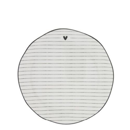 Bastion Collections / Porcelánový dezertný tanier Black Stripes 16cm