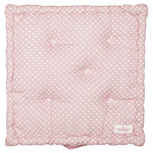 GREEN GATE / Bavlnený sedák Spot Pale Pink