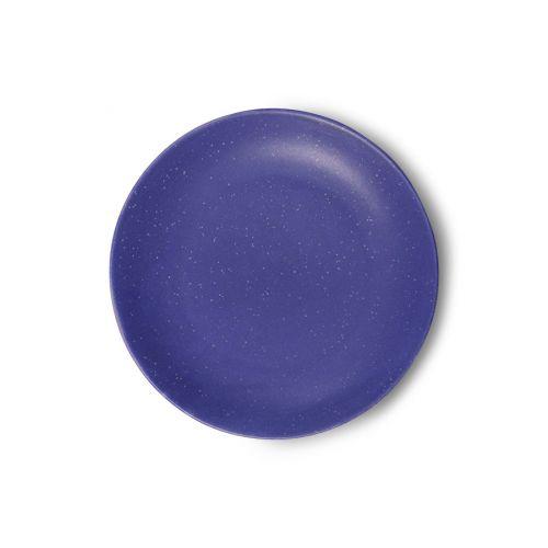 HK living / Porcelánový dezertný tanier Purple Side