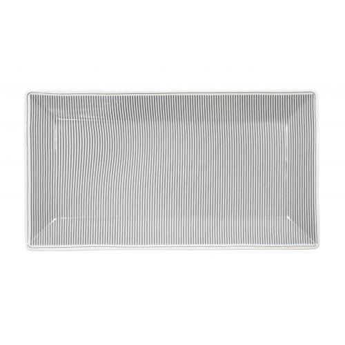 Krasilnikoff / Porcelánová tácka Grey Stripes