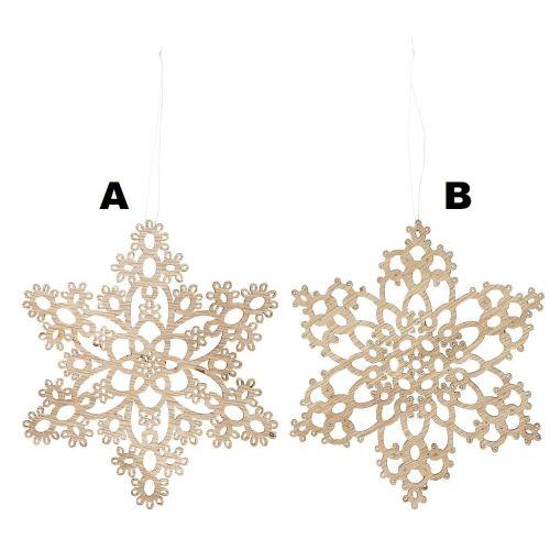 IB LAURSEN / Drevená vianočná ozdoba Snow Crystal