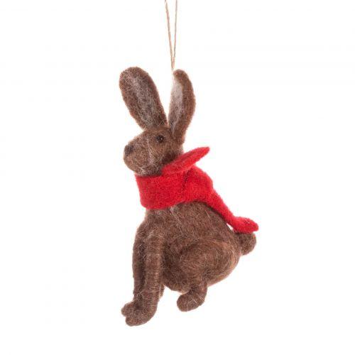 sass & belle / Plstená vianočná ozdoba Hare