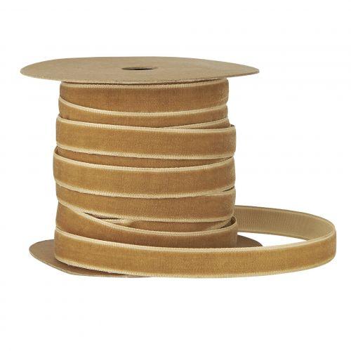 IB LAURSEN / Zamatová stuha na špulke Clay - 10m