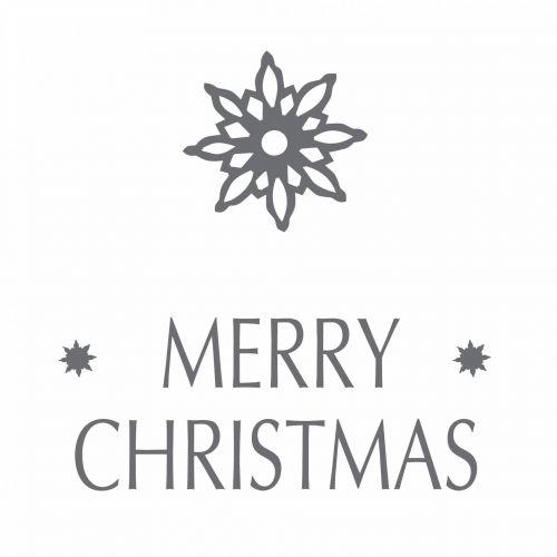 IB LAURSEN / Papierové obrúsky Merry Christmas 20 ks