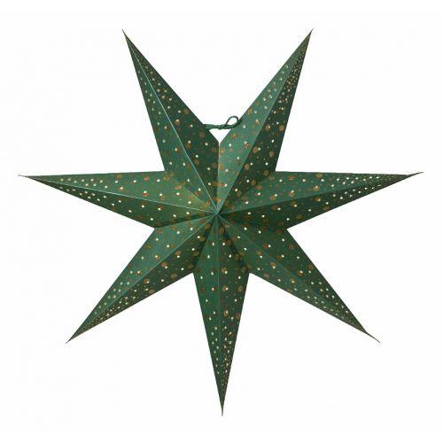 watt & VEKE / Závesná svietiaca hviezda Isadora Green 60 cm