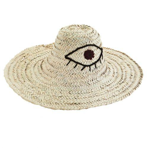 MADAM STOLTZ / Slamený klobúk Third Eye