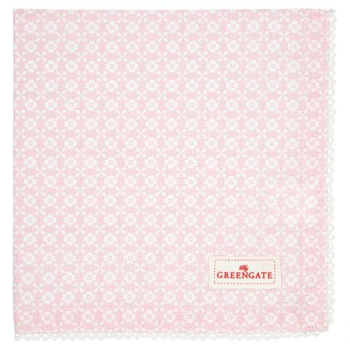 GREEN GATE / Látkový obrúsok Helle Pale Pink