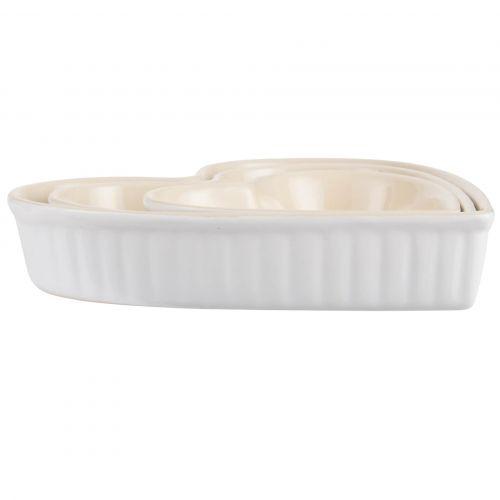 IB LAURSEN / Zapekacie misy Heart Mynte Pure White