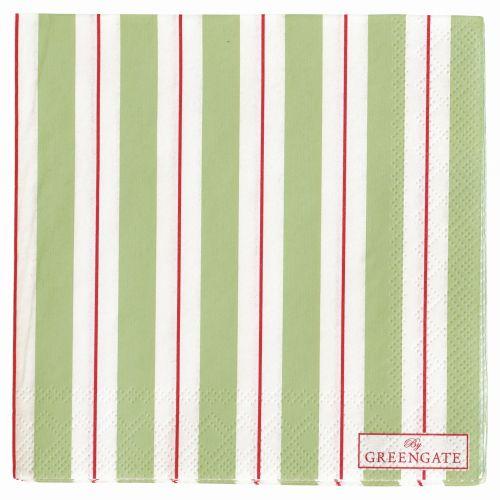 GREEN GATE / Papierové obrúsky Elinor green - menšie