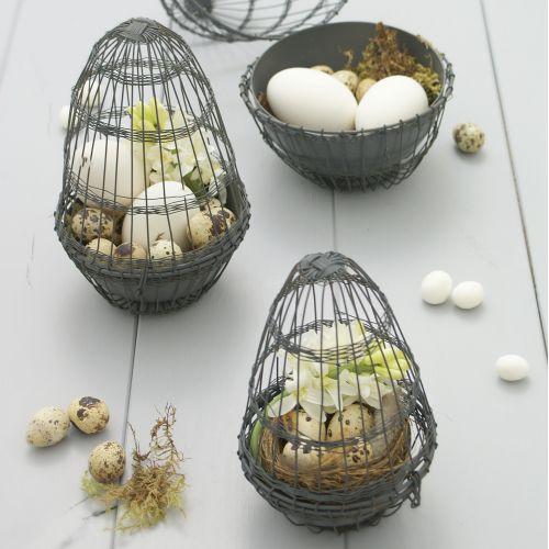 Krasilnikoff / Drôtené vajíčko na dekorácie Grey