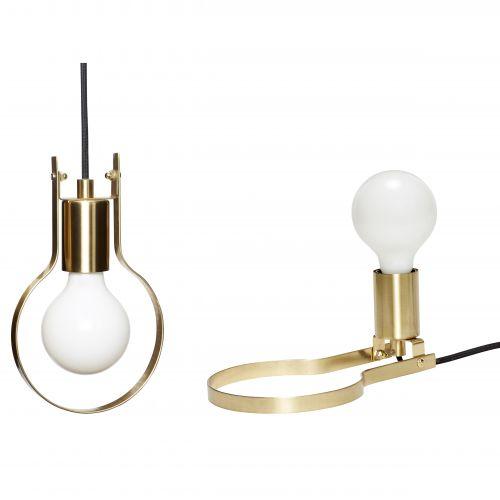 Hübsch / Závesná/stolná lampa Bulb Brass 2v1