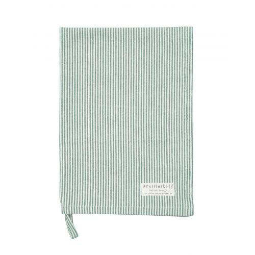 Krasilnikoff / Utierka Thin Stripes Green 50 x 70 cm