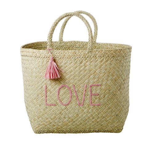 rice / Ručne pletená nákupná taška Raffia Love