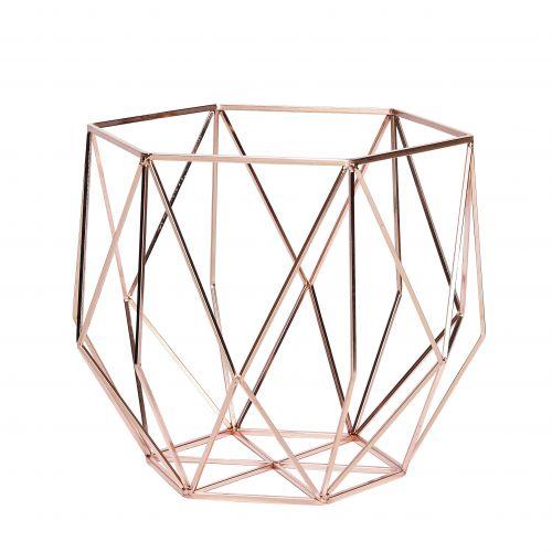 Hübsch / Drôtená misa Geometry Copper