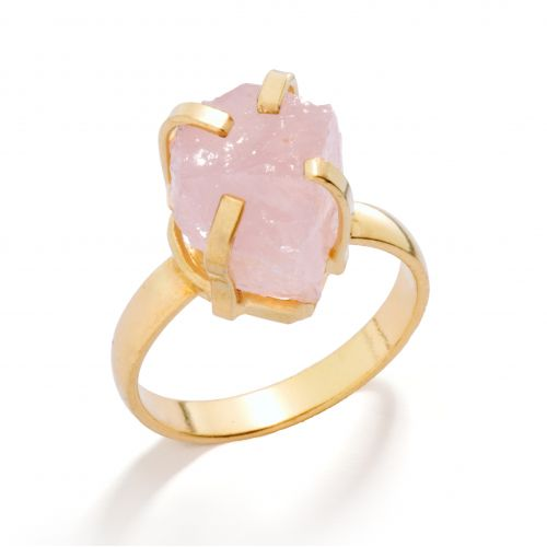 DECADORN / Prsten Mini Rose Quartz/Gold