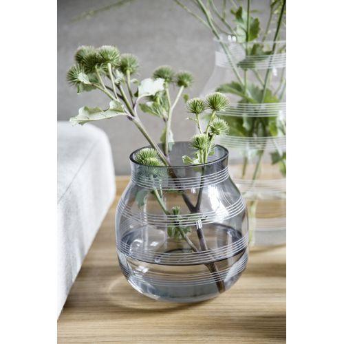 KÄHLER / Sklenená váza Omaggio Steel Blue 17 cm