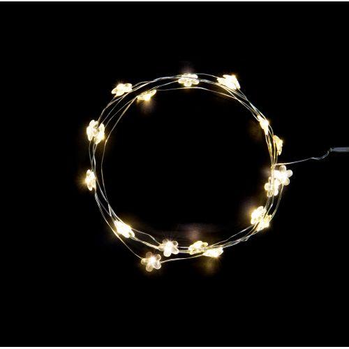 IB LAURSEN / Svetelný LED drôtik s 20timi žiarovkami Flowers
