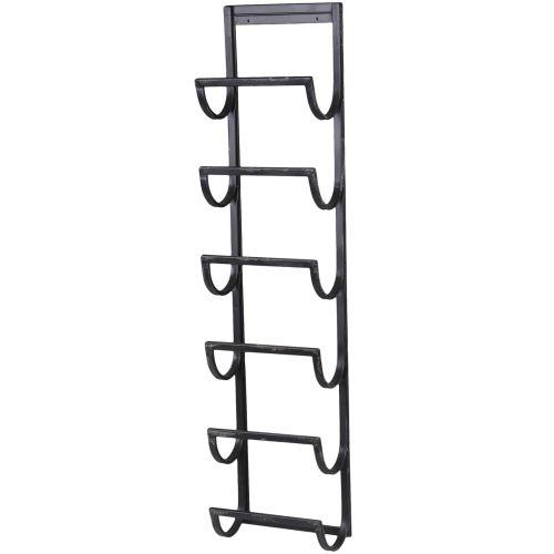 Chic Antique / Nástenný stojan na víno Black