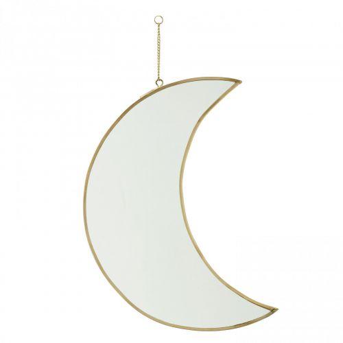 MADAM STOLTZ / Závesné zrkadlo Moon Brass