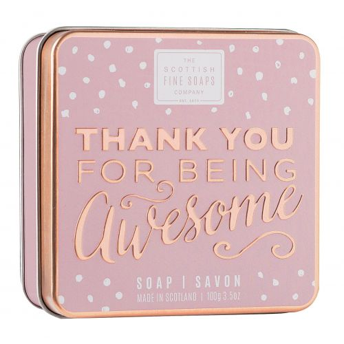 SCOTTISH FINE SOAPS / Mydlo v plechovej krabičke Being awesome