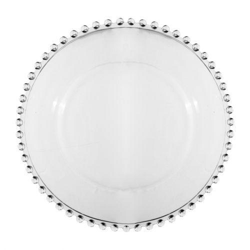 CÔTÉ TABLE / Sklenený tanier Pearl 27 cm