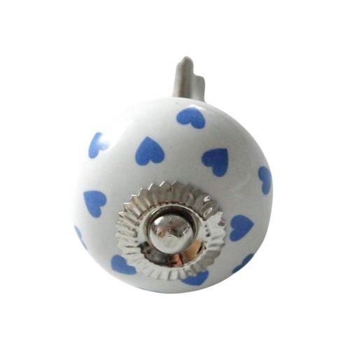 La finesse / Porcelánová úchytka Blue Heart 4cm