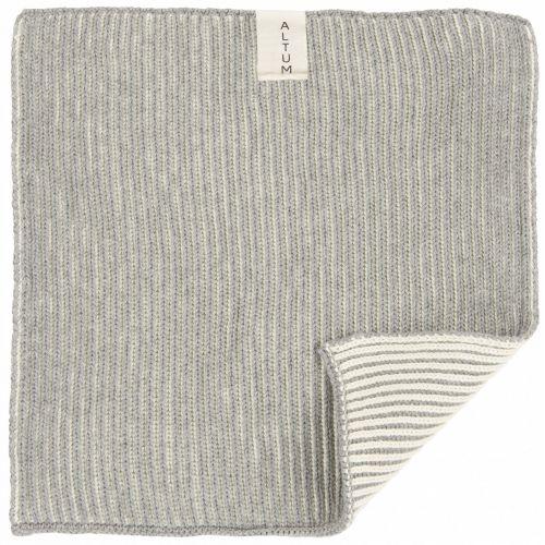 IB LAURSEN / Malý pletený uteráčik ALTUM Light Grey