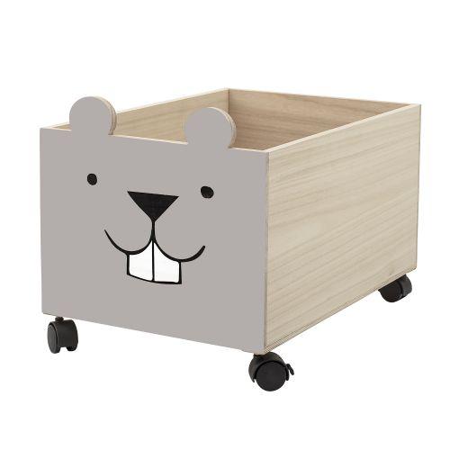 Bloomingville / Detský úložný box na kolieskach Little Beaver