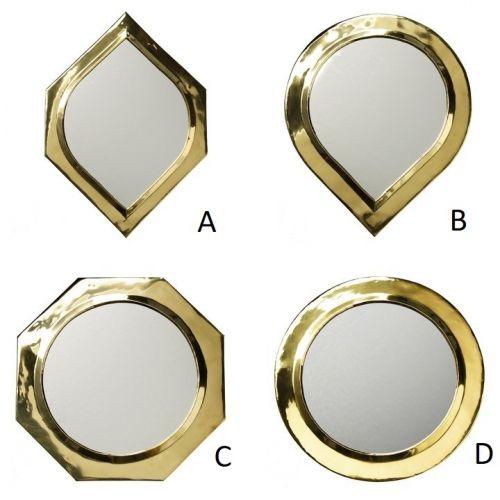Tine K Home / Dekoratívne zrkadlo Brass - 4 druhy