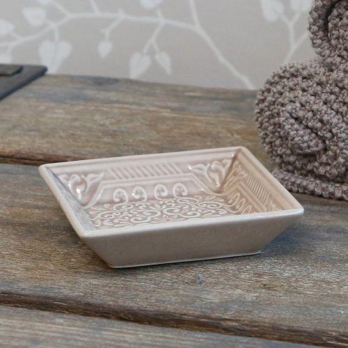Chic Antique / Porcelánová mydelnička Ornament Latte