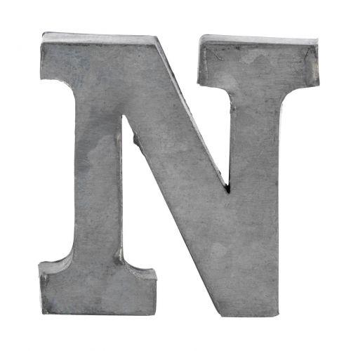 MADAM STOLTZ / Plechové písmeno N, 5,5 cm