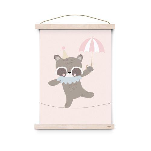 EEF lillemor / Plagát do detskej izbičky Raccoon Dancer A3