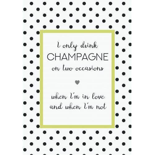 IB LAURSEN / Plechová ceduľa I only drink Champagne