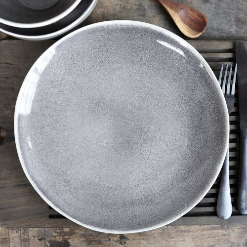 Chic Antique / Keramický tanier Calais Coal Grey Dinner Plate ⌀ 26 cm