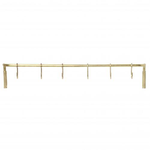 ferm LIVING / Kovová tyč do kuchyne + 6 háčikov Brass