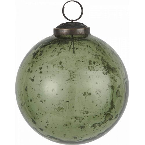 IB LAURSEN / Vianočná ozdoba Pebbled Glass Green 9,5cm