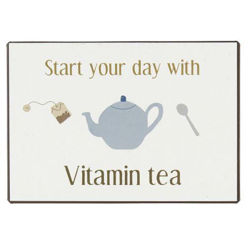 IB LAURSEN / Plechová ceduľa Vitamin Tea
