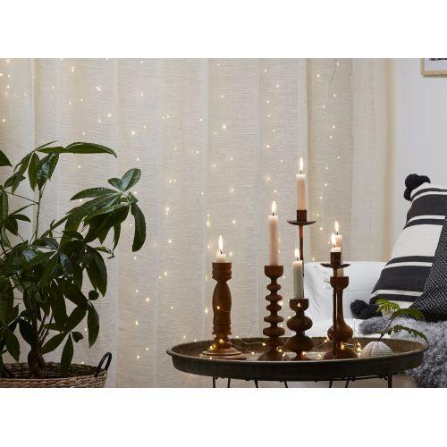 STAR TRADING / Svetelný LED záves Light Chain Dew Drop 100 x 100 cm