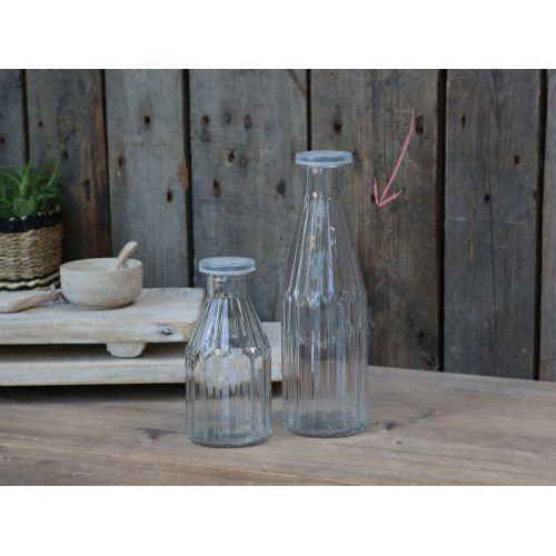 Chic Antique / Sklenená fľaša s viečkom Clear 500ml