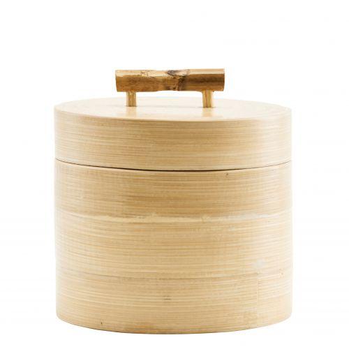 House Doctor / Bambusová dóza s vekom 12x10 cm