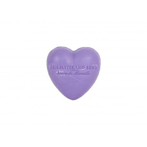 LE CHATELARD / Francúzske mydlo Heart - Levanduľa 25gr