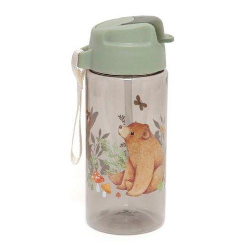 PETIT MONKEY / Detská fľaša Bear and Friends Sage Green